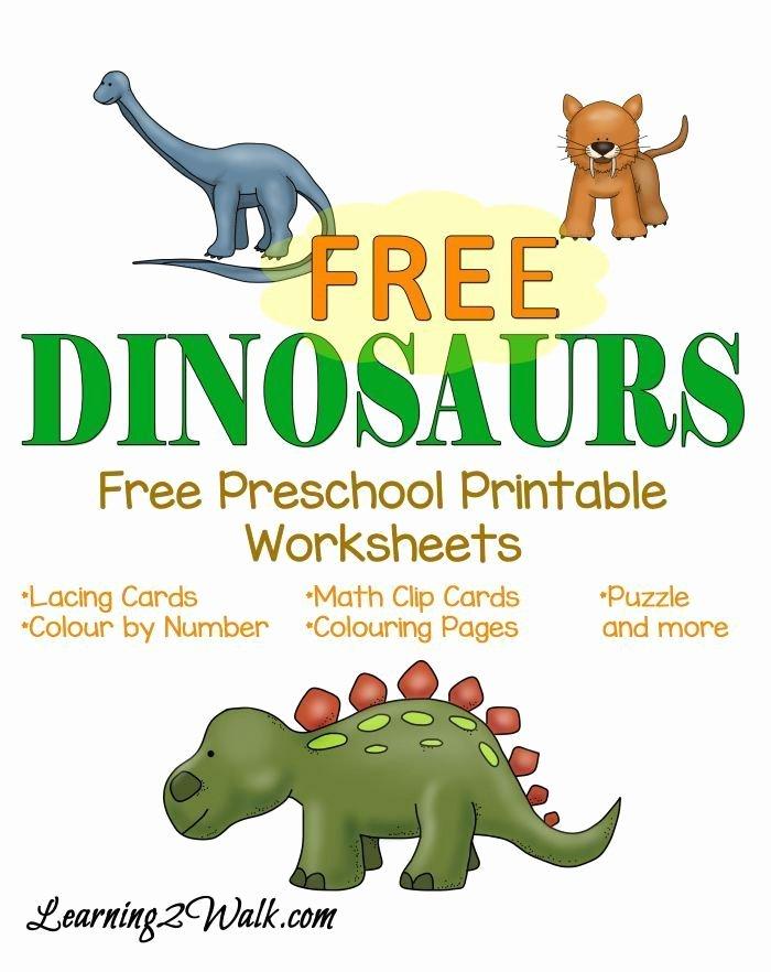 Dinosaur Worksheets for Kindergarten Dinosaurs Free Preschool Printable Worksheets