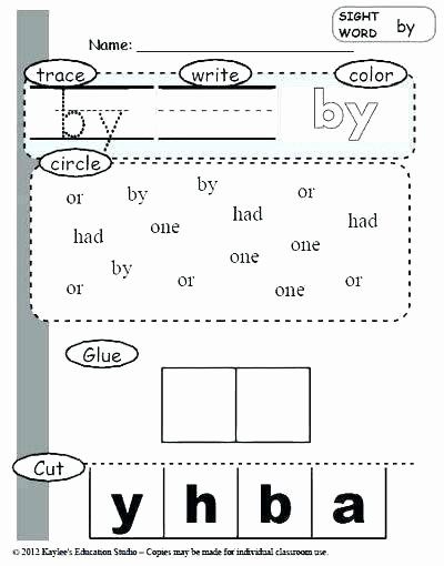 Dinosaur Worksheets for Kindergarten Word Practice Worksheets