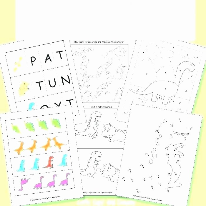 Dinosaur Worksheets for Preschoolers Awesome Math Dot – Risatatourtravel
