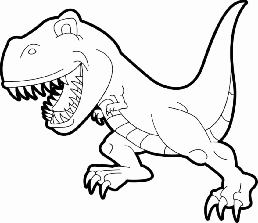 Dinosaur Worksheets for Preschoolers Fresh Coloring Simple T Rex Coloring Pages Kids Colouring