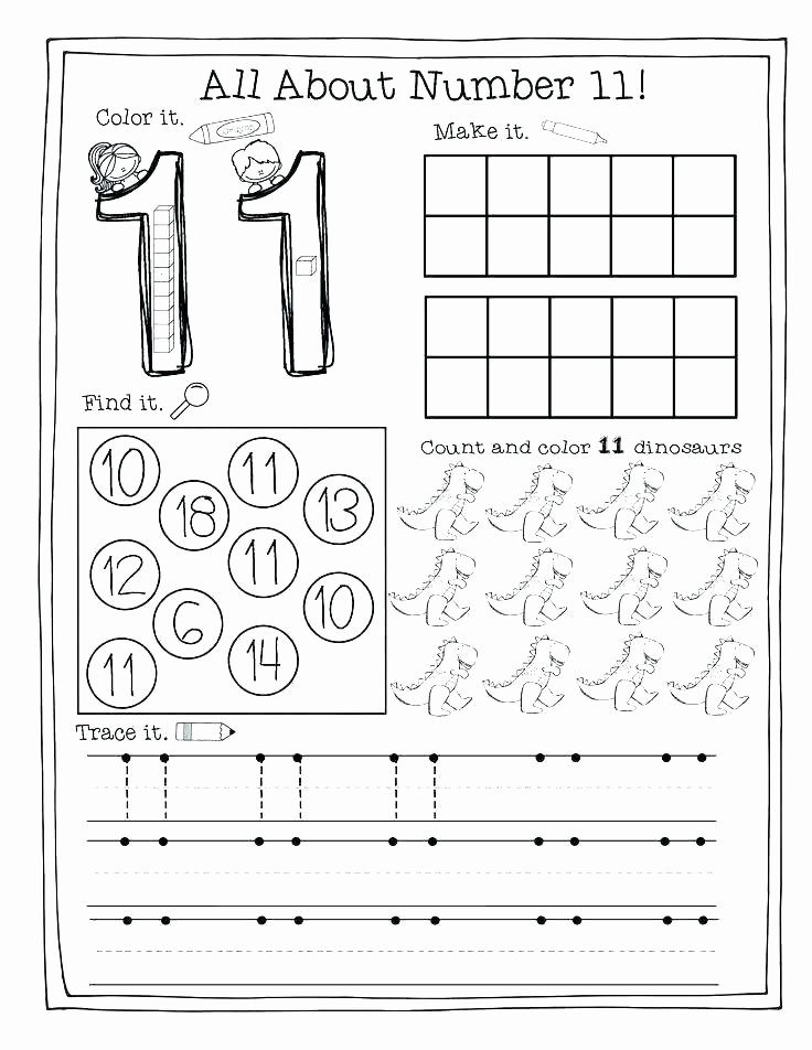 Dinosaur Worksheets Kindergarten Number 1 to 5 Worksheets Kindergarten