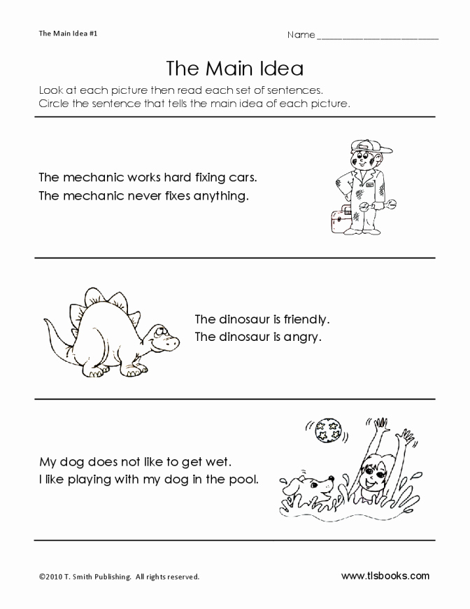 Dinosaur Worksheets Kindergarten Rhyme Examples Worksheets Definition for Kids Free Main Idea
