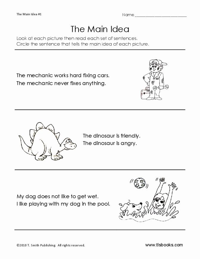 Dinosaur Worksheets Kindergarten Rhyme Examples Worksheets Definition for Kids Free Main Idea