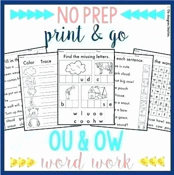 oi or worksheet vowel diphthongs ow worksheets second grade and oy activities no prep word work teaching teachers pay ou workshe