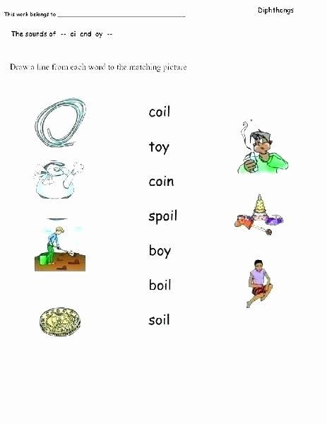 Diphthong Oi Oy Worksheets Oi Worksheet Words Differentiated Activity Phonics