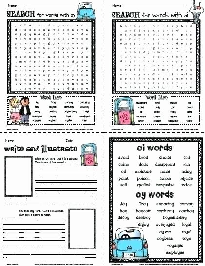Diphthong Oi Oy Worksheets Oi Worksheets Best Diphthongs Oi and Worksheets