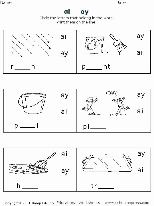 Diphthong Oi Oy Worksheets Ou and Ow Worksheets Words with Grade Second Vowel Digraphs
