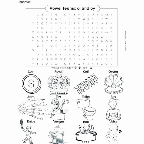 Diphthongs Oi Oy Best Of Worksheets Vowel Diphthongs Oi Ow Oy Ou Pdf
