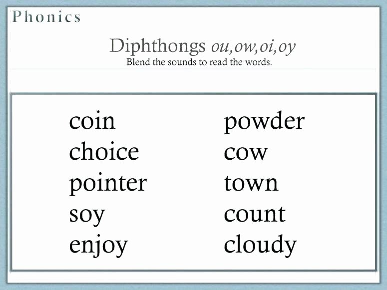 Diphthongs Oi Oy Worksheets Ow Oi Worksheet for Kindergarten Ou Activities First Grade