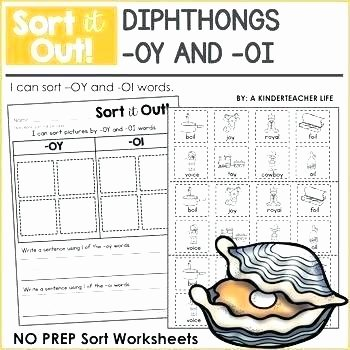 Diphthongs Oi Oy Worksheets Worksheet Oi Teaching Resources Teachers Pay and sort