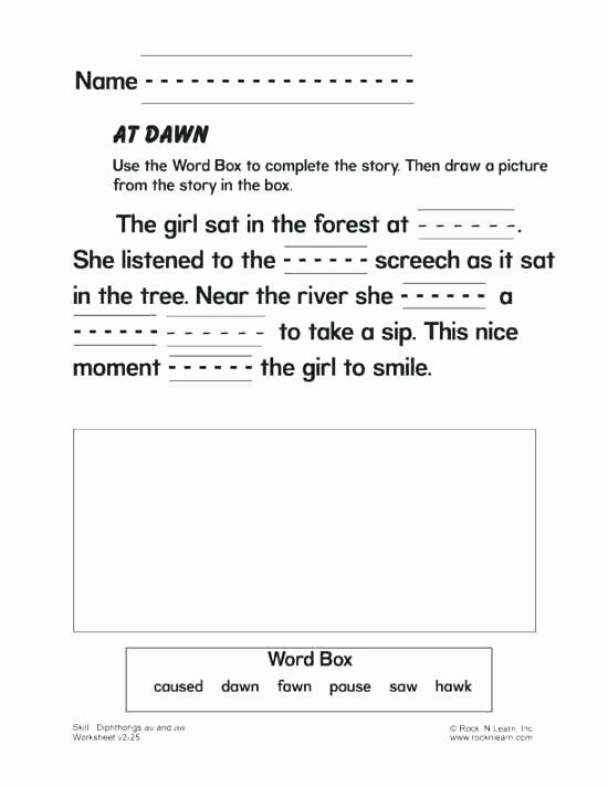 Diphthongs Worksheets Pdf Aw Worksheets Municative Life Diphthong Printable and