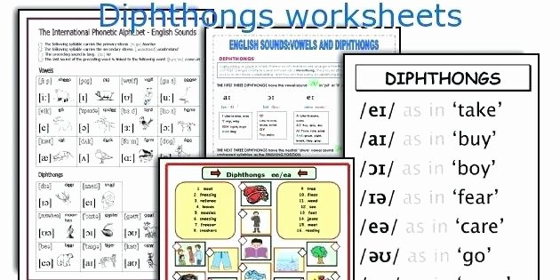 Diphthongs Worksheets Pdf Phonics Vowel Diphthongs Ow Review Worksheet for Worksheets