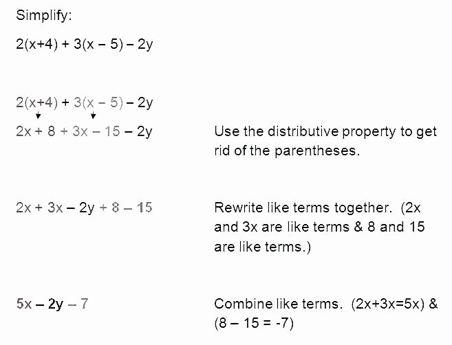 Distributive Property Worksheet 6th Grade 6th Grade Math Distributive Property Worksheets