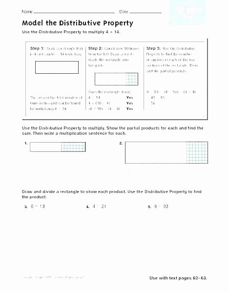 Distributive Property Worksheet 6th Grade Distributive Worksheets solving Equations with Property