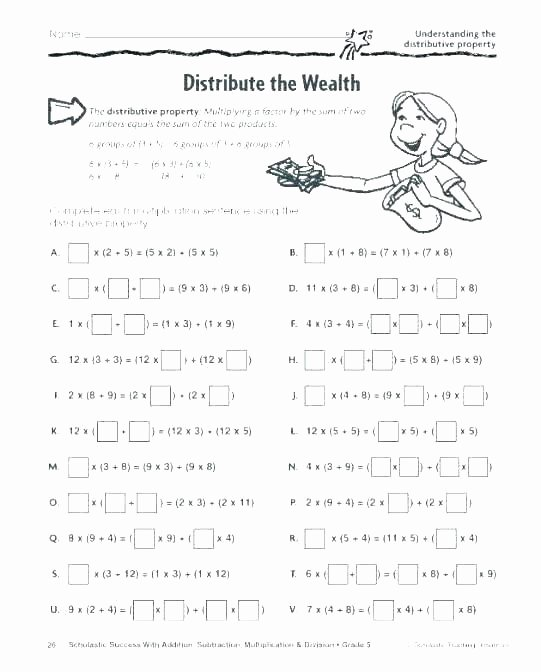 Distributive Property Worksheets 9th Grade Math Properties Distributive – Healthyregardshayley