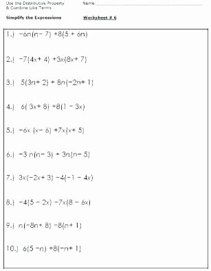 Distributive Property Worksheets Pdf Distributive Property Of Multiplication Worksheets Pdf