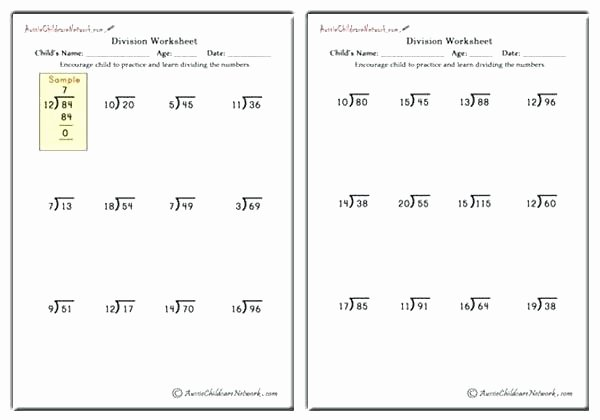Division Worksheets for Grade 2 4th Grade Division Worksheets Pdf