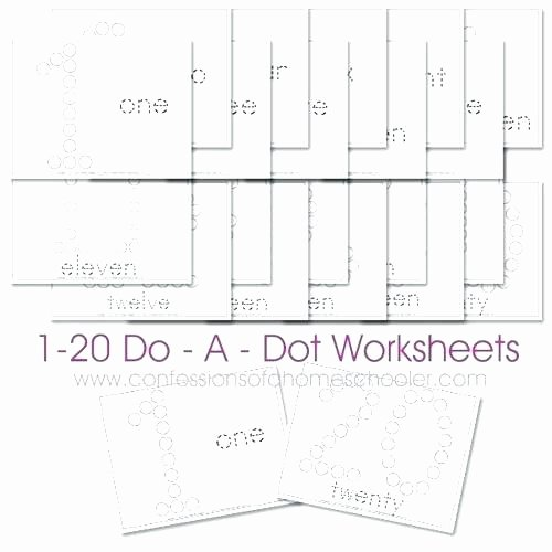 Do A Dot Worksheets Paint by Numbers Template Download the Free 1 Do A Dot