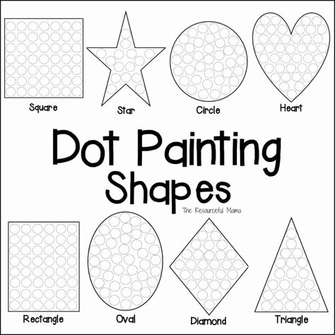Do A Dot Worksheets Shapes Dot Painting Free Printable Preschool