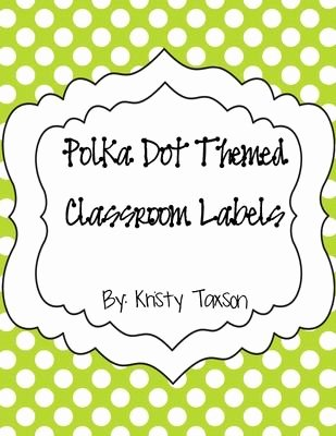 Dot to Dot 1 20 Free Polka Dot themed Classroom Labels From Kindergarten