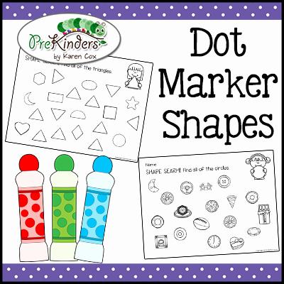 Dot to Dot Art Printables Dot Marker Shapes Tpt Prekinders