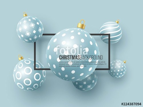 Dot to Dot Christmas Printables Christmas Blue Baubles with Geometric Pattern 3d Realistic
