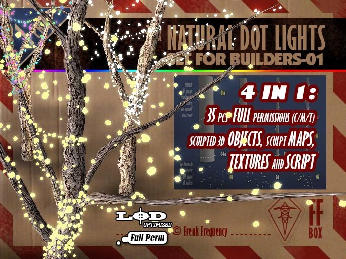 Dot to Dot Christmas Printables Second Life Marketplace [ffbox] 35x Natural Dot Lights Set