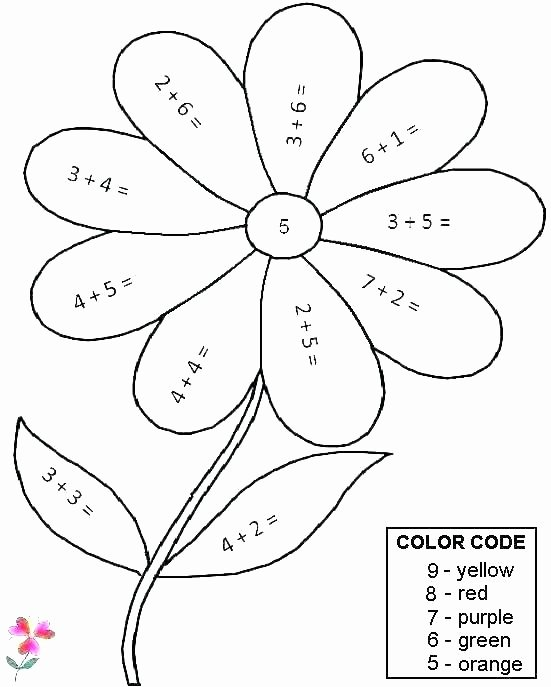 Double Digit Addition Coloring Worksheets First Grade Math Coloring Worksheets Pages for Free Fun