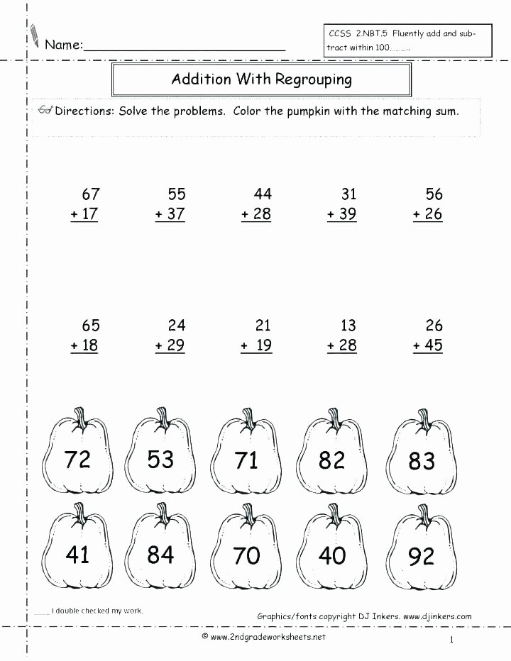 Double Digit Addition Coloring Worksheets Free Printable Double Digit Addition Worksheets