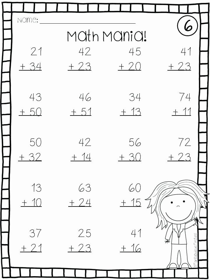 Double Facts Worksheets Addition with and without Regrouping Worksheets Double Digit