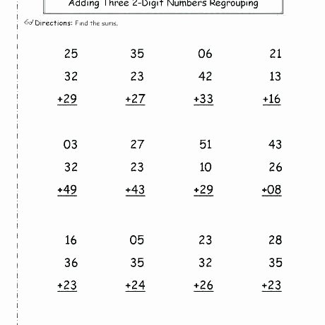 Double Facts Worksheets Maths 2 Digit Addition Worksheets