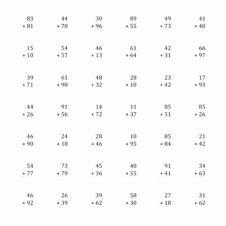 Double Facts Worksheets Printable Math Worksheets Double Digit Addition Download