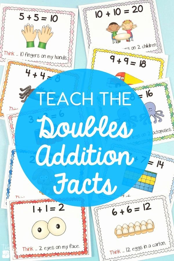 Doubles Addition Facts Worksheets Doubles Facts Worksheets Posters and Games Math