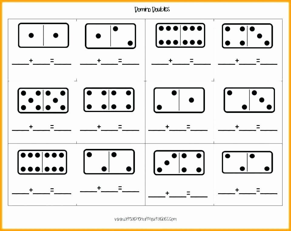 Doubles Addition Facts Worksheets Printable Addition and Subtraction Worksheets Kindergarten