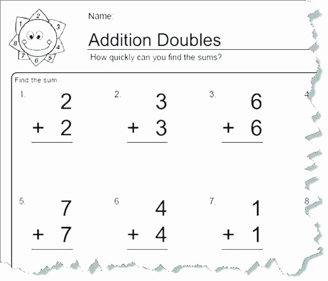 Doubles Addition Facts Worksheets Related Facts Worksheets Subtraction Grade Addition and A