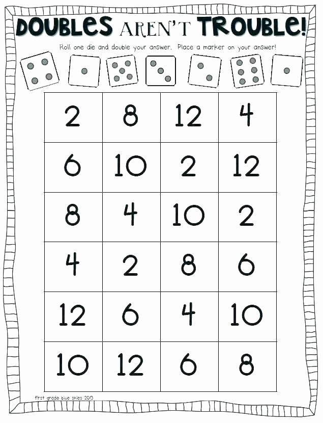 Doubles Addition Facts Worksheets Year One Worksheets – Openlayers