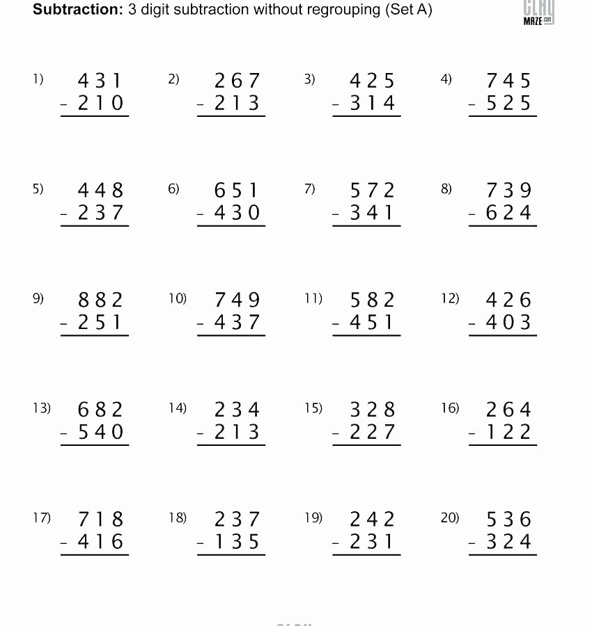 Doubles Addition Worksheet 5 Digit Subtraction with Regrouping – Paperandcotton