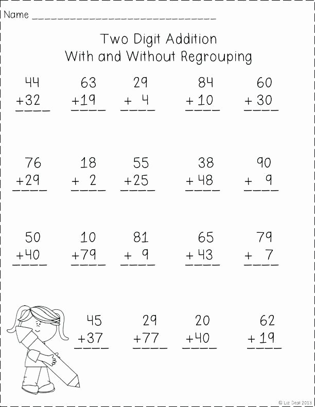 Doubles Addition Worksheet Two Digit Addition Worksheets with Regrouping – Trubs