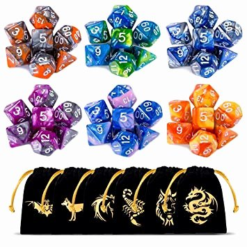 Doubles and Near Doubles Worksheets Ciaraq Dnd Dice Set Polyhedral Dice Set Dungeons and Dragons Dice Set for D&d Dice Games Rpg Mtg Table Games with Drawstring Pouch Double Color