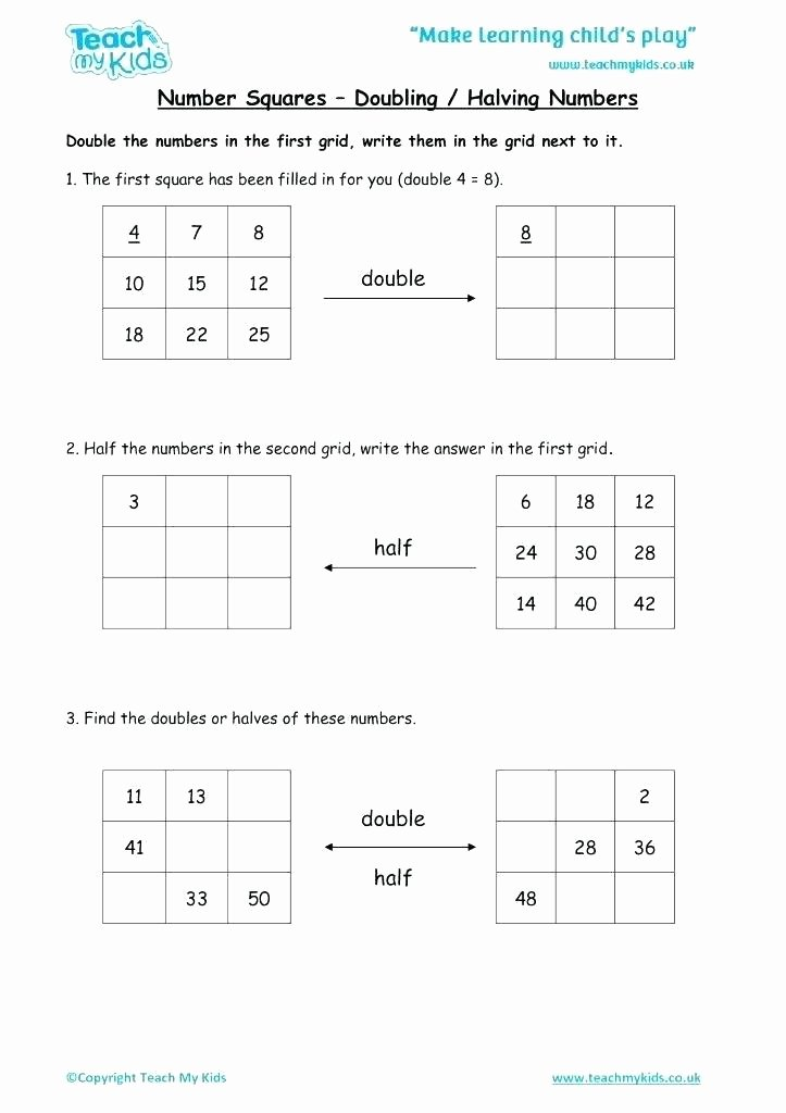 Doubles and Near Doubles Worksheets Doubling Worksheet – Vishalcargopackersmover