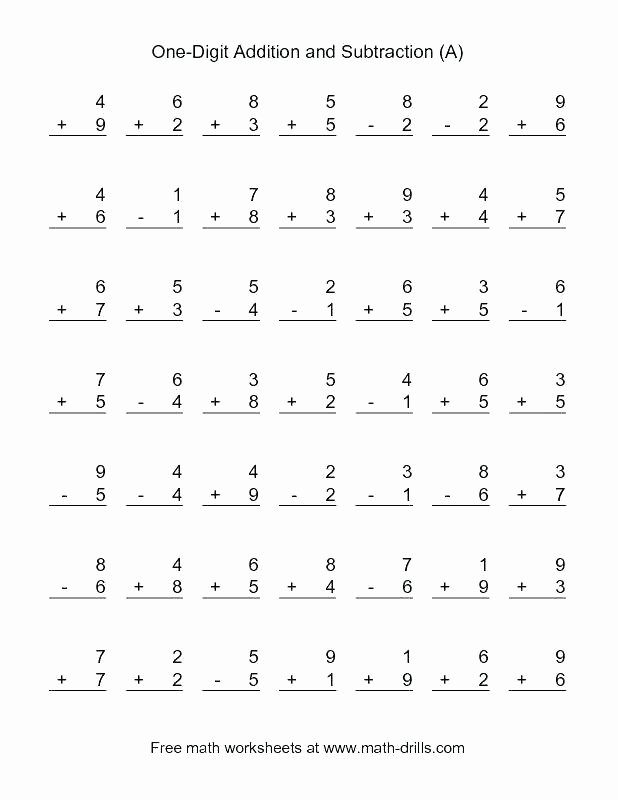 Doubles Facts Worksheets Free Printable Single Digit Addition Worksheets