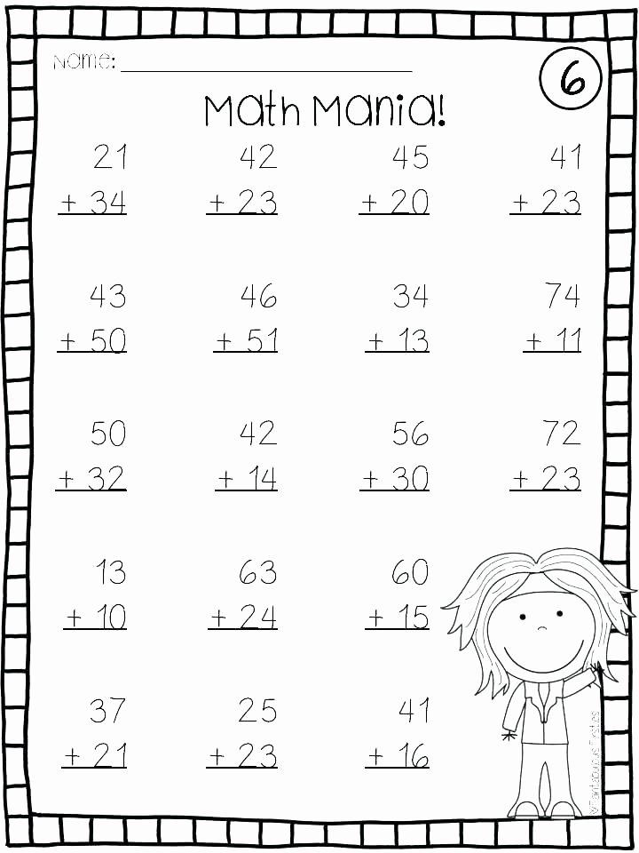 Doubles Facts Worksheets Worksheets for Math Grade 1 – Primalvape