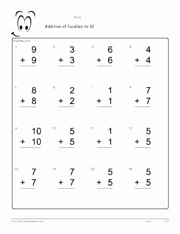 Doubles Math Facts Worksheet Class One Maths Worksheets – butterbeebetty