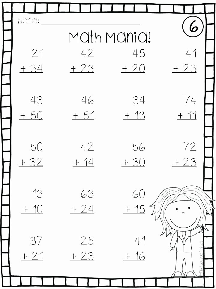 Doubles Math Worksheet Worksheets for Math Grade 1 – Primalvape