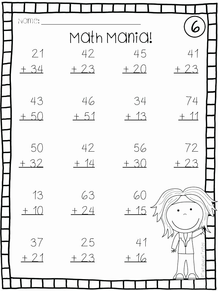 Doubles Math Worksheets 2 Digit Addition without Regrouping Worksheet – Eurotekinc