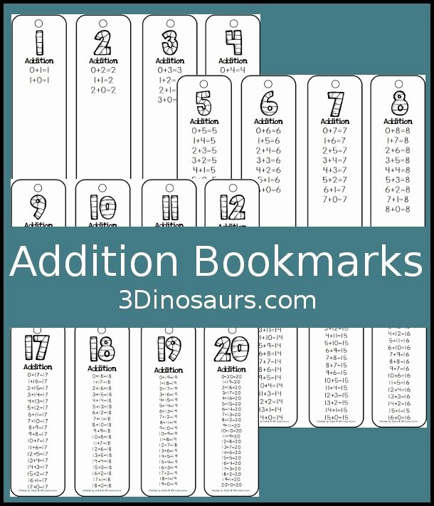 Doubles Rap Printable Addition Bookmarks Free Free School Printables