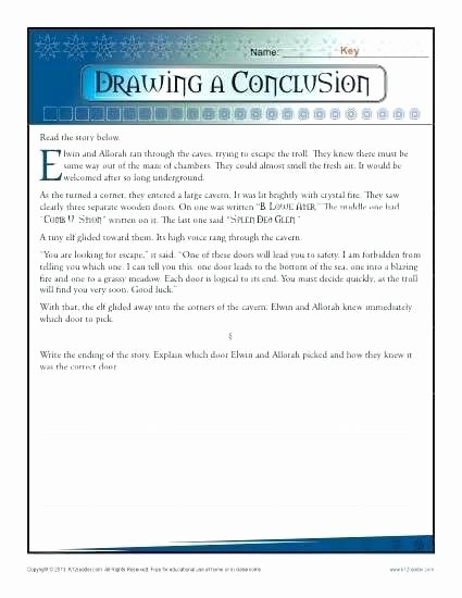 Drawing Conclusions Worksheets 4th Grade Drawing Conclusions Worksheets Drawing Conclusions Lesson