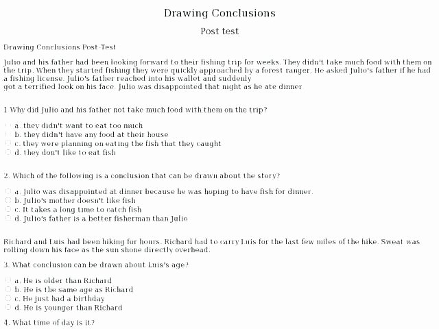 Drawing Conclusions Worksheets 4th Grade Drawing Conclusions Worksheets Grade Worksheets Grade 3 as