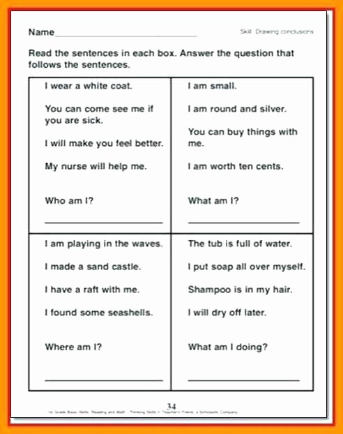 Drawing Conclusions Worksheets 4th Grade Third Grade Drawing Conclusions Worksheets