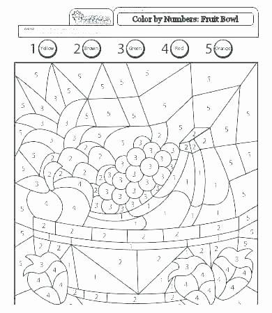 Easy Color by Number Worksheets Color by Numbers for Kindergarten Number Preschool Easy